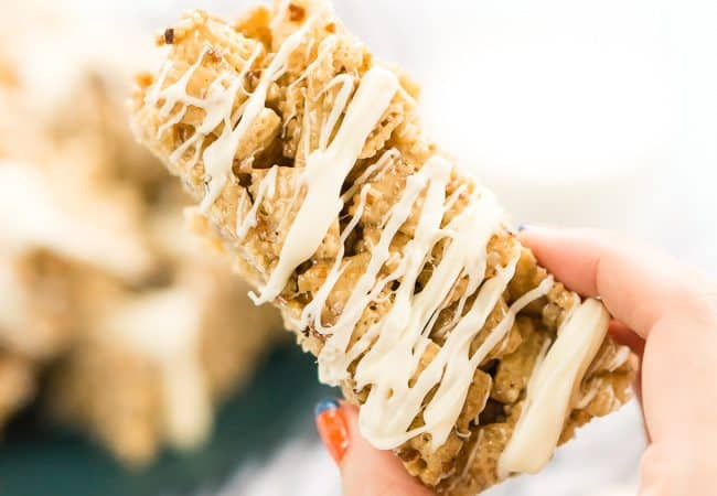Brown Butter Pecan Cereal Bars