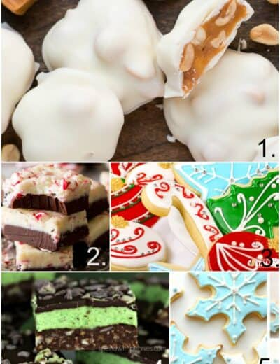 Pictures of different Christmas baking