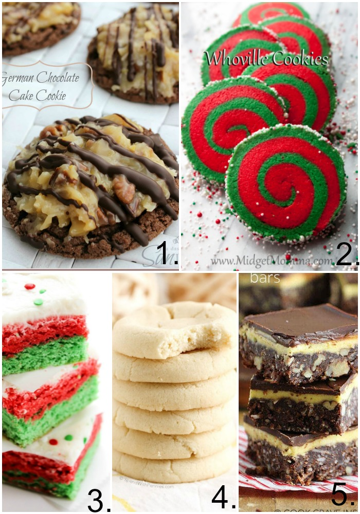 Here are some of our favorite christmas cookies such as nanaimo bars, shortbread cookies, and sugar cookie bars! Perfect for this holiday season