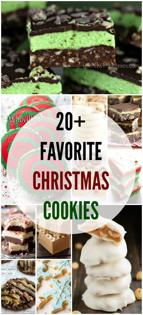 Christmas cookie recipes with a title