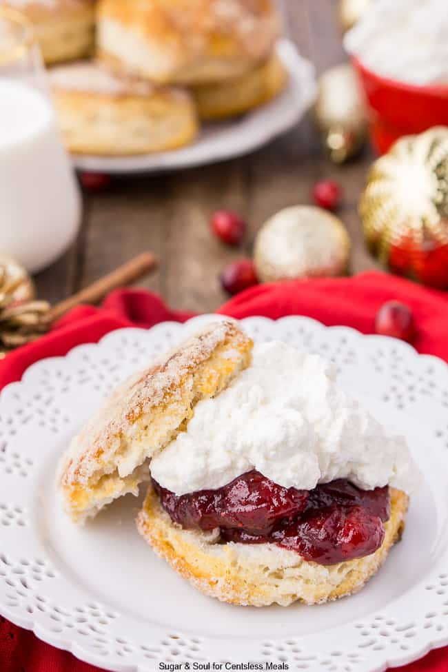 This Cranberry Shortcake adds a fun holiday twist to the classic summer dessert!