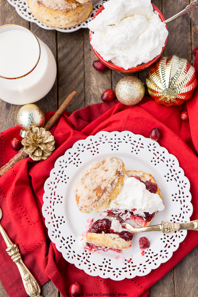 This Cranberry Shortcake adds a fun holiday twist to the classic summer dessert! It's super simple to make and serve, and almost everyone who loves the strawberry version loves Cranberry Shortcake, too!