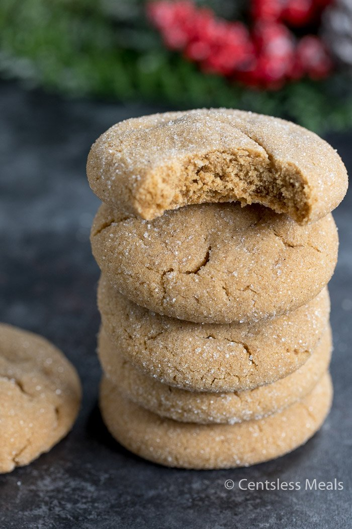These Molasses Cookies are a super easy cookie, with just the right amount of nutmeg, cinnamon and molasses. They are so beautiful and golden brown that they can make your mouth water just looking at them!