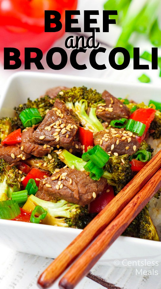 Slow Cooker Beef and Broccoli is an easy Crock Pot meal perfect for any weeknight and is so flavorful, everyone will beg for more! #centslessmeals #easyrecipe #beef #homemade #freshingredients #kidfriendly #slowcooker #weeknightmeal