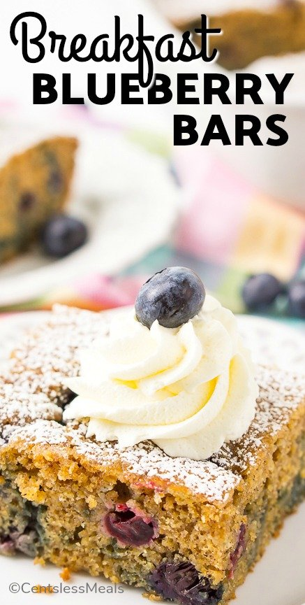 Overnight Breakfast Blueberry Cake recipe is a bit healthier than a traditional blueberry coffee cake recipe! Ingredients like whole wheat flour, Greek yogurt, and applesauce give this breakfast treat a wholesome edge without sacrificing flavor. #centslessmeals #overnight recipe #easyrecipe #blueberryreceipe #simplecake #healthybreakfast