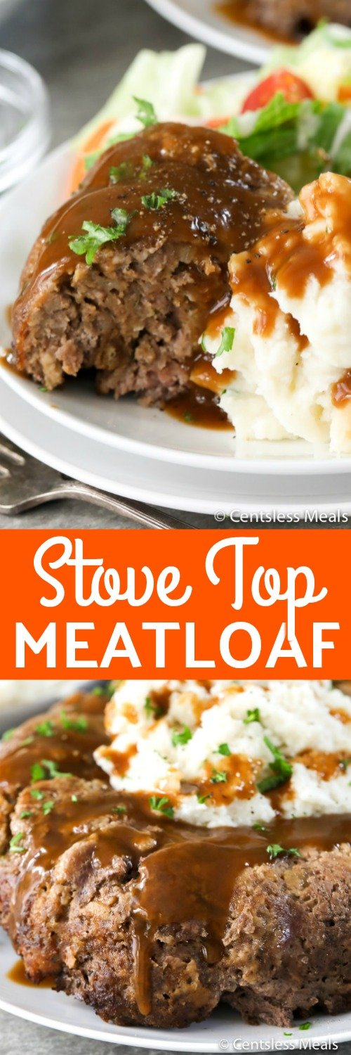 Stove Top Meatloaf is a tasty twist on traditional meatloaf making for a super simple family Meal! Lean ground beef and Stove Top Stuffing mix combine together for an easy and delicious meatloaf! #centslessmeals #easyrecipes #groundbeefrecipes #easydinners #simplemeals #easymeatloafrecipes