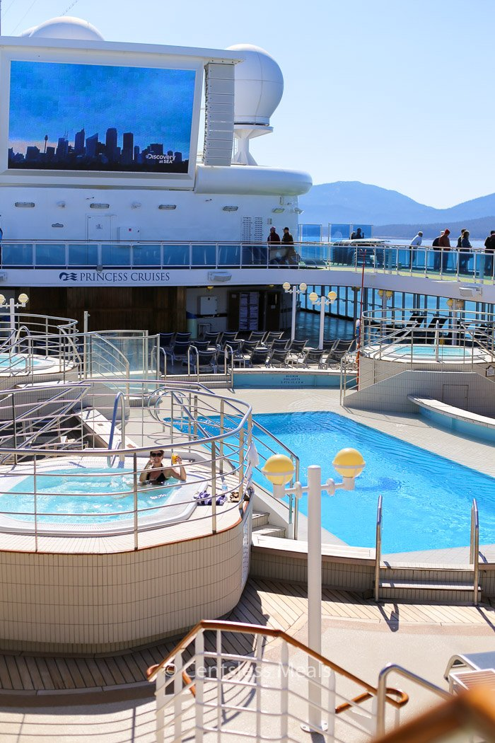 A picture of the deck on a Princess Cruises ship
