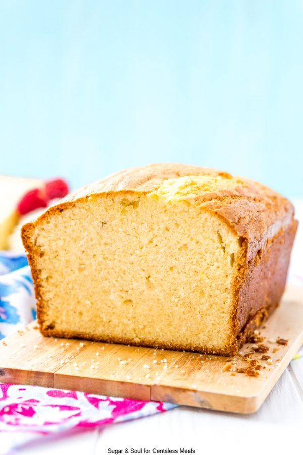 Side picture of Almond Pound Cake
