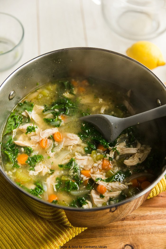 Keto Chicken Kale Soup Recipe