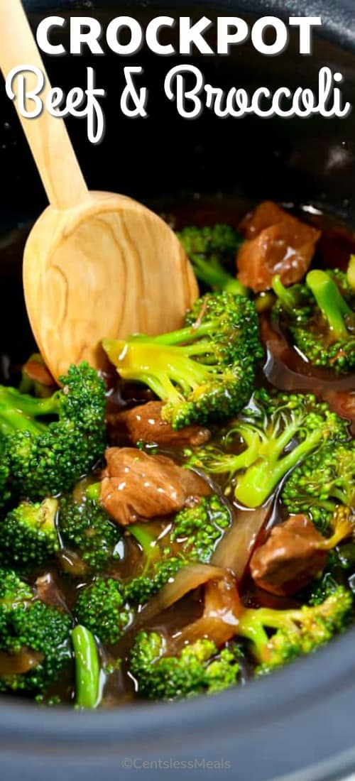 Beef and Broccoli cooked in a CrockPot