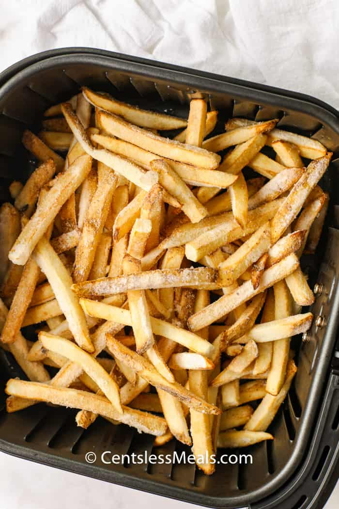 Air Fryer Frozen Fries before cooking