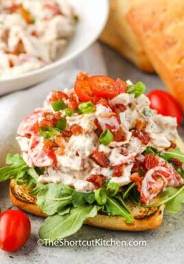 BLT Chicken Salad on bread
