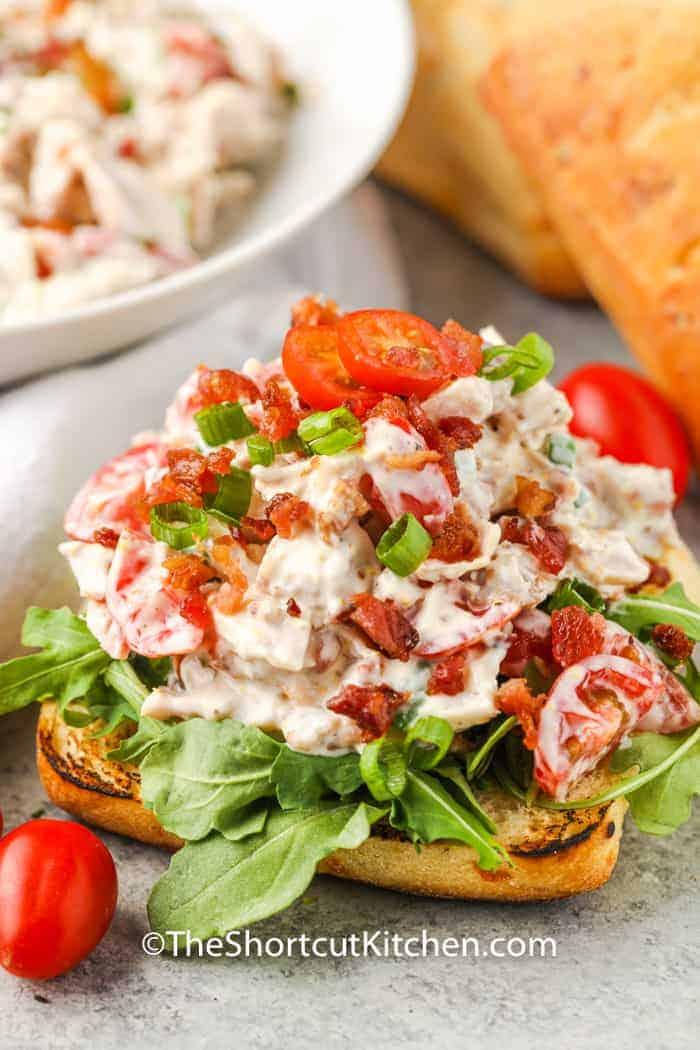 BLT Chicken Salad on bread