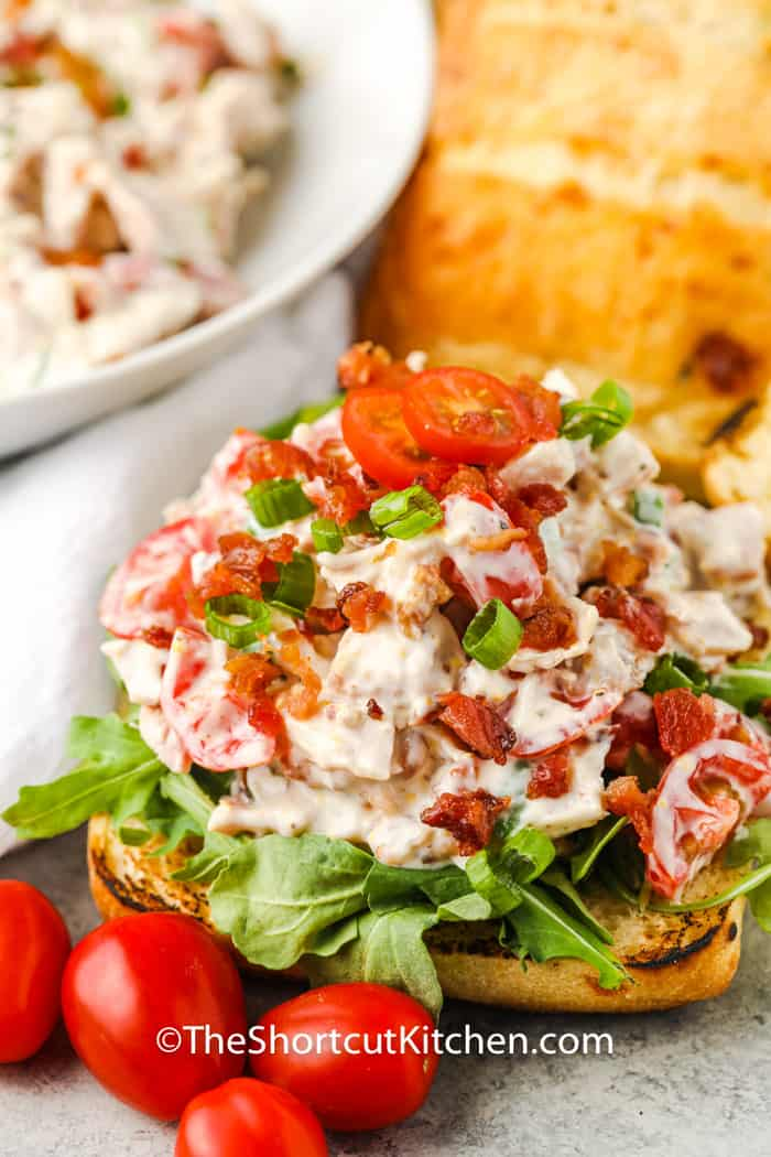 close up of BLT Chicken Salad