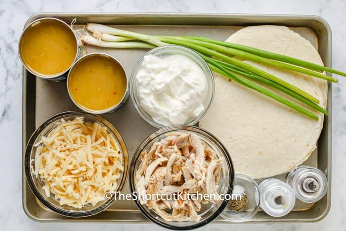 ingredients to make Sour Cream Chicken Enchiladas