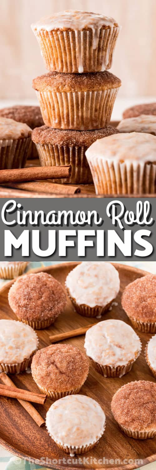 Cinnamon Sugar Muffins with a title