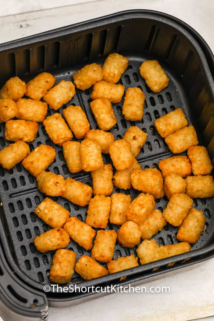 cooked Air Fryer Frozen Tater Tots