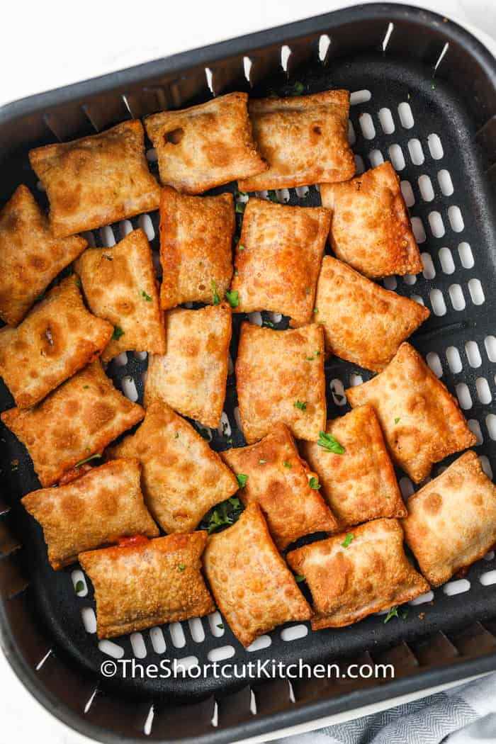 cooked Air Fryer Mini Pizza Rolls