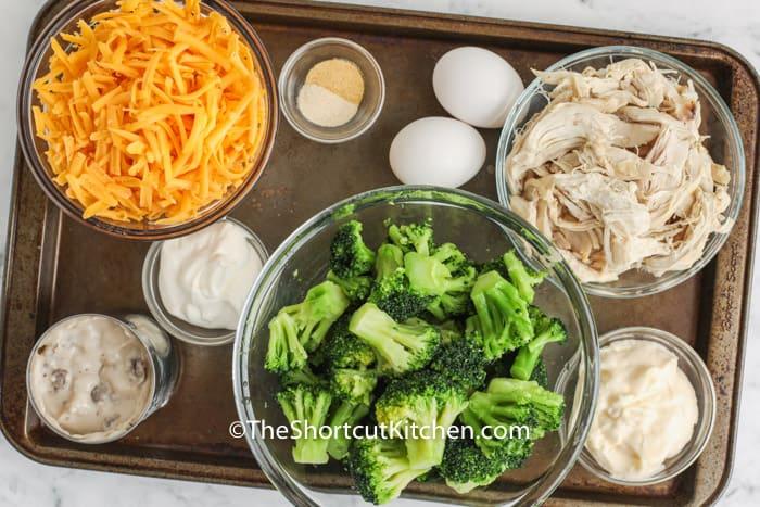 ingredients to make Chicken Broccoli Casserole