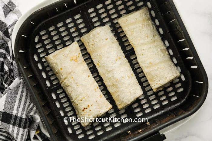Air Fryer Frozen Burrito in the air fryer