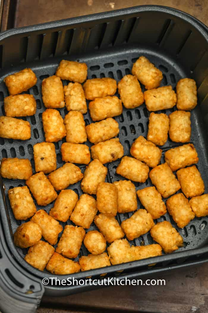 Tater Tots in an Air Fryer basket
