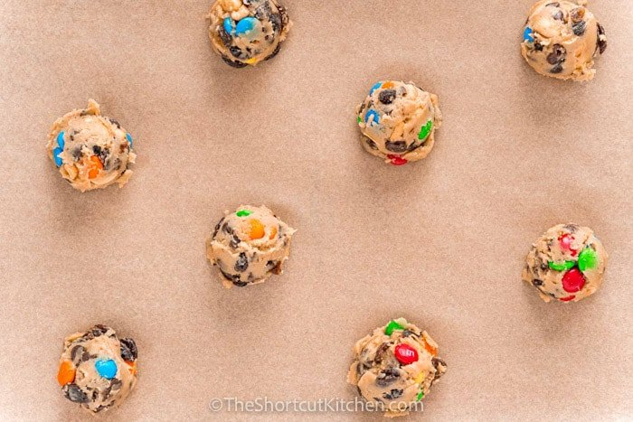 Trail Mix Cookies before cooking