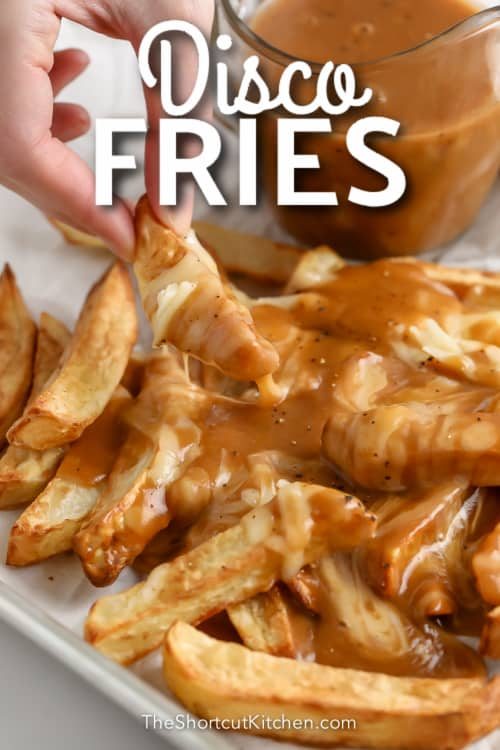 plate of Disco Fries with text