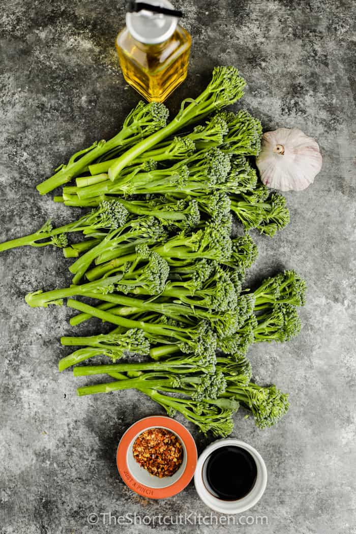 ingredients to make Roasted Broccolini