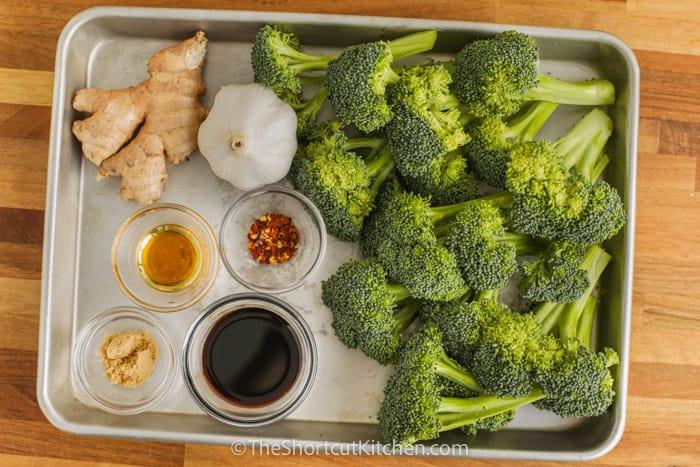 ingredients to make Stir Fried Broccoli