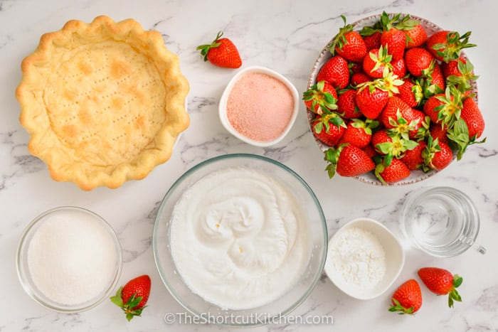 ingredients to make Fresh Strawberry Pie