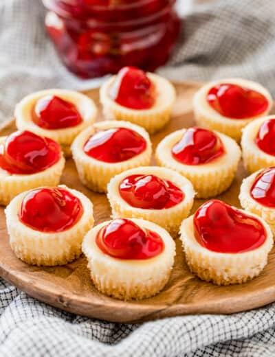 platter full of Mini Cheesecake Bites