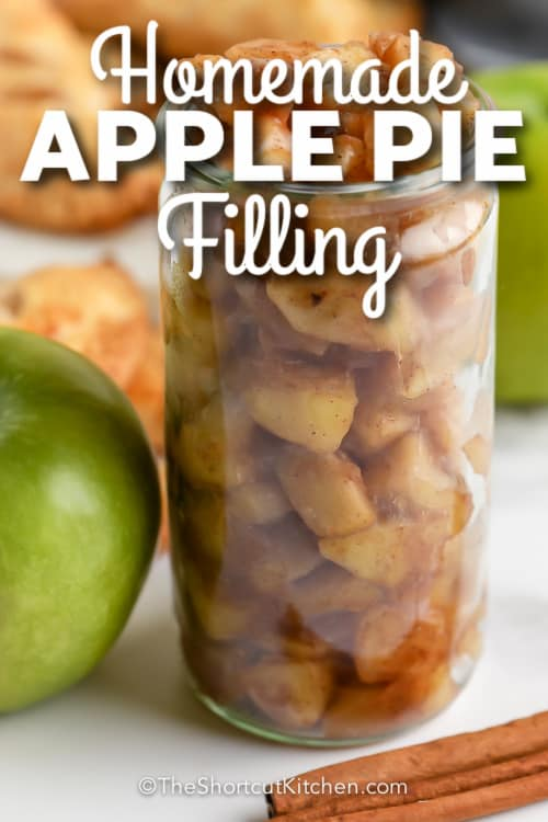 Homemade Apple Pie Filling with text
