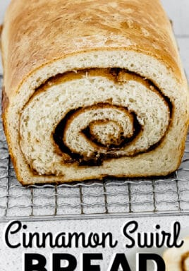 a load of Cinnamon Swirl Bread with text.