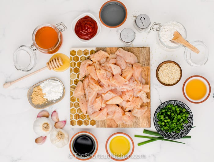 ingredients for Sweet & Sour Chicken