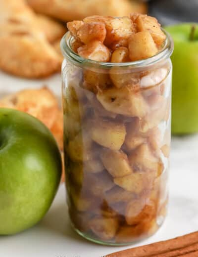 Homemade Apple Pie Filling in a jar