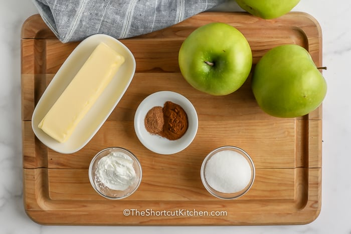 Ingredients assembled to make Homemade Apple Pie Filling