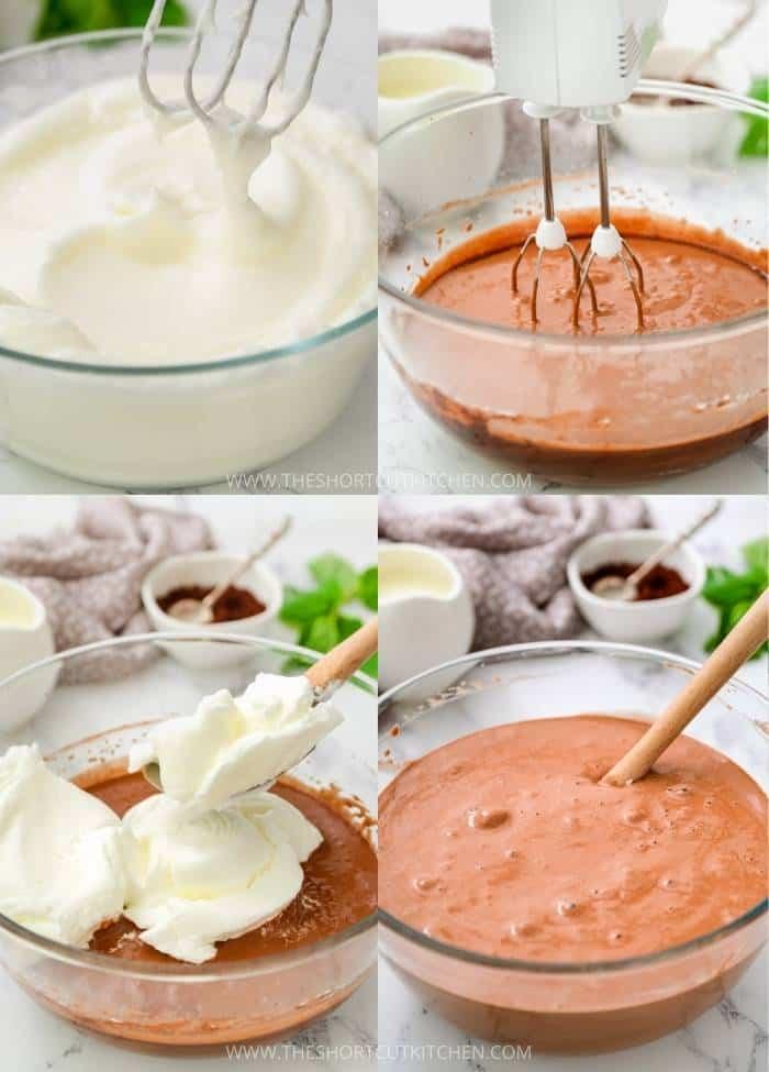 process of making Cocoa Chiffon Cake batter