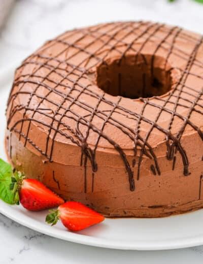 plated Cocoa Chiffon Cake