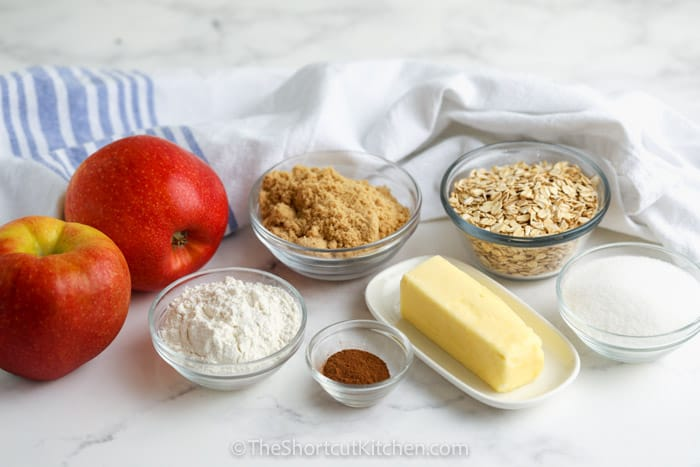 ingredients to make Crock Pot Apple Crisp