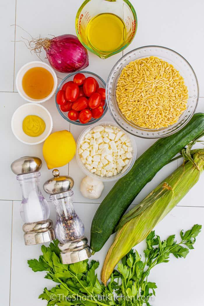 ingredients to make Orzo Pasta Salad